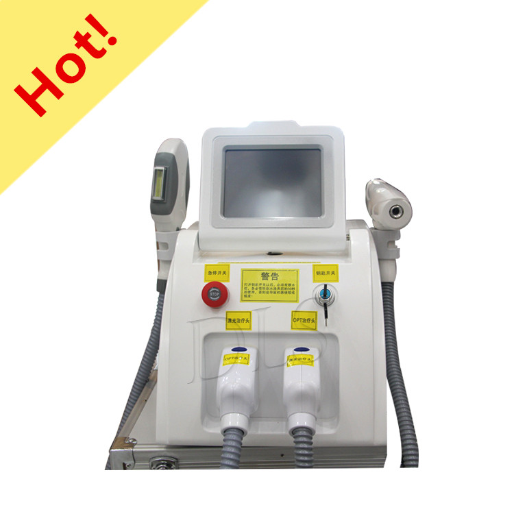 Factory Price 2 In 1 IPL SHR /OPT/Elight  Hair Removal And Laser Tattoo Removal Beauty Machine For Salon