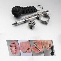 Titanium Alloy Tactical Pen Tungsten Steel Head EDC Self Defense Broken Window Portable Multi function Personal Survival Tool