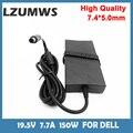 LZUMWS 150W Power Supply 19.5V 7.7A 7.4*5.0mm Laptop Adapter for Dell Alienware M11X M14X M15X E5510 E6420 ADP-150DB Notbook AC