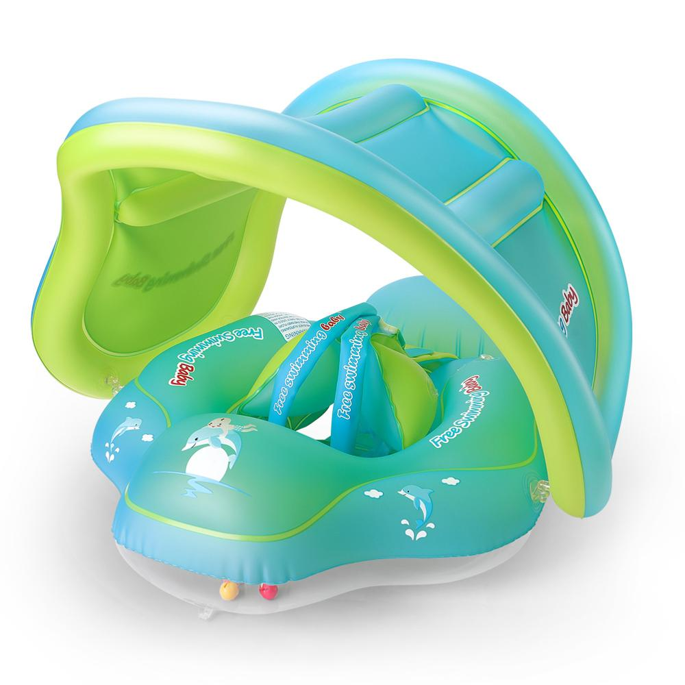 New Upgrades Baby Swimming Float Inflatable Infant Floating Kids Swim Pool Accessories Circle Bathing Toddler Rings Summer Toys