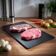 Plaque de congélation Express, plateau en aluminium spécial, dessins, viande et fruits de mer froids en Minutes, outils de cuisine