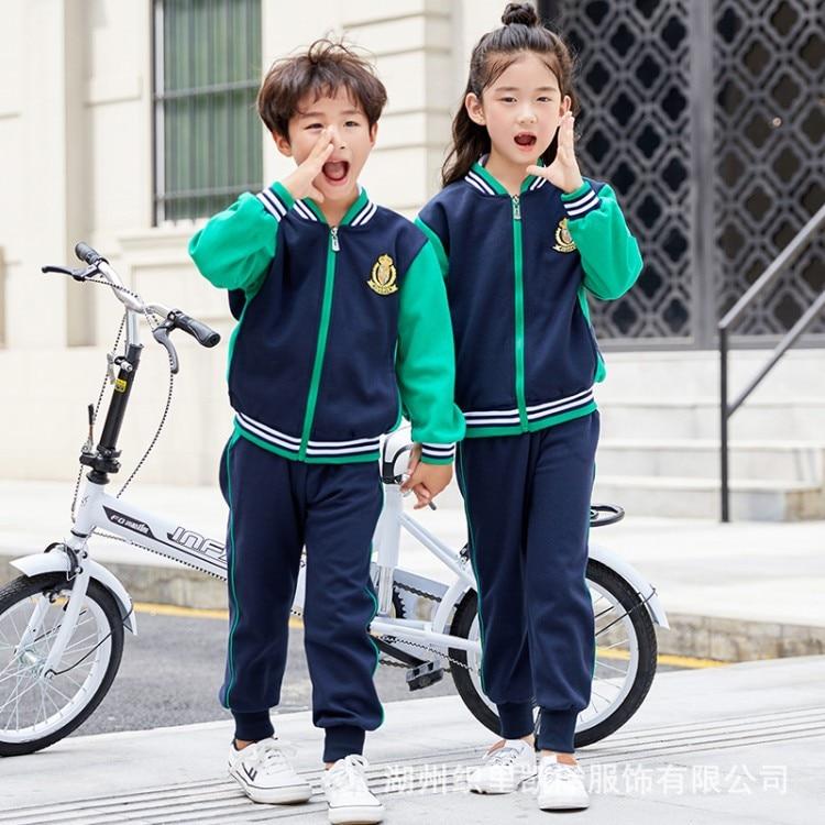 Kindergarten Suit Spring And Autumn 2019 New Style Teacher CHILDREN'S Sports Suit Primary School STUDENT'S School Uniform Busine