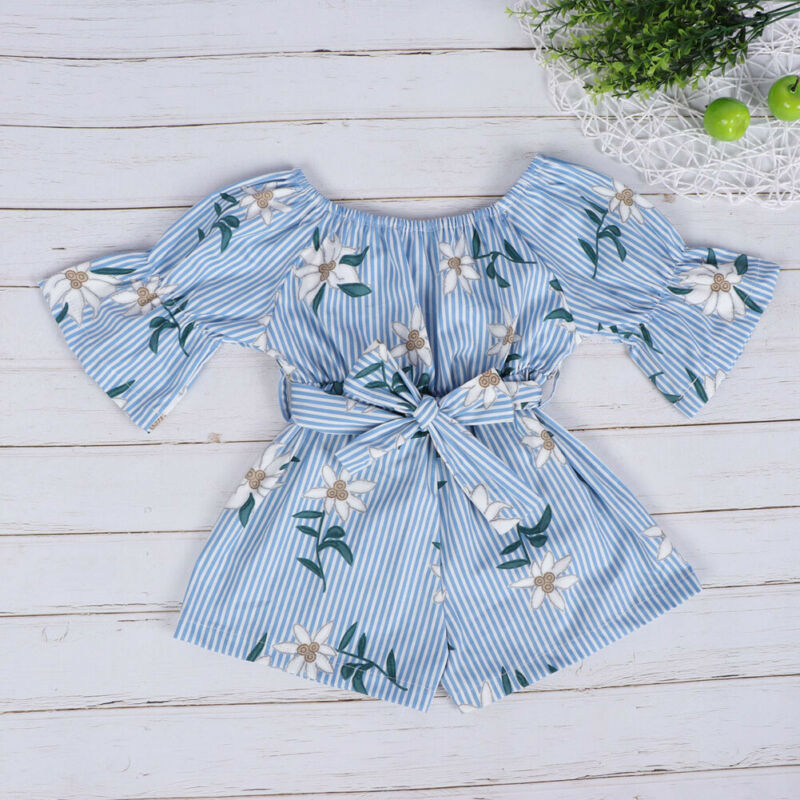 Cute Newborn Infant Baby Girl Floral Romper Bodysuit Jumpsuit Outfit Clothes