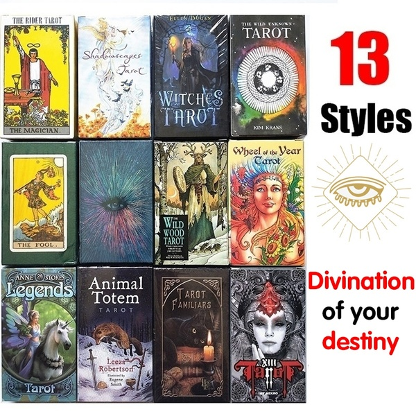 13 Styles Magical Tarot English Edition Board Game Mysterious Tarot Family Party Cards Game