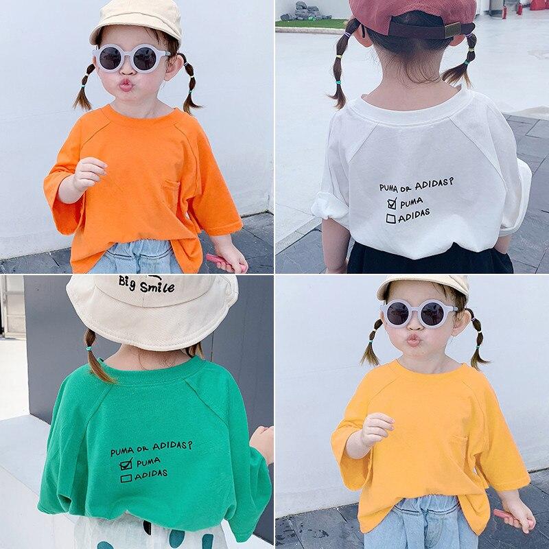 557.0¥ 30% OFF 2020 Kids Clothes Girls Boys Cute Cartoon Print T Shirt Children Toldder Summer Shor...