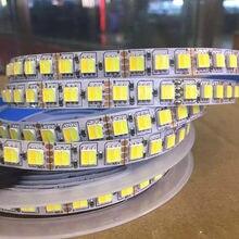 Tira conduzida dupla branco 5025 cw/ww cct temperatura de cor 2 cores em 1 led 120led fita luzes 12v 24v impermeável livre shiping