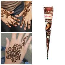 Colar indiano da tatuagem de henna dos cones de henna do marrom preto para a etiqueta temporária pintura da tatuagem corpo cones da tatuagem da arte natural galinha c1u2