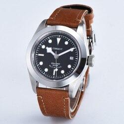41MM Corgeut luksusowe szafirowe czarne pokrętło auto data mężczyźni automatyczny zegarek C20