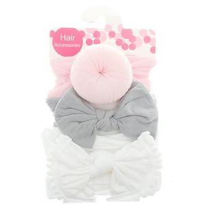 3 шт./компл. новая однотонная нейлоновая повязка на голову с бантом, повязка на голову для милых детей волосы для девочек, повязка на волосы д...