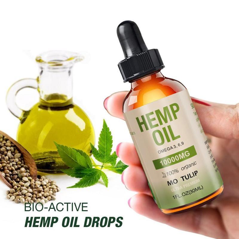 10000mg Natural Hemp Oil Organic Essential Oils CBD Oil Hemp Extract Drops For Body Relieve Stress Pain Relief Better Sleep 30ml