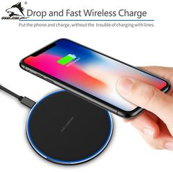 COOLWOLF 15W Fast Wireless charger for iPhone XS Max X 8 XR 11 Samsung S10 S9 Huawei P30 Pro Xiaomi Mi 9 8 QC 10W Qi Charging