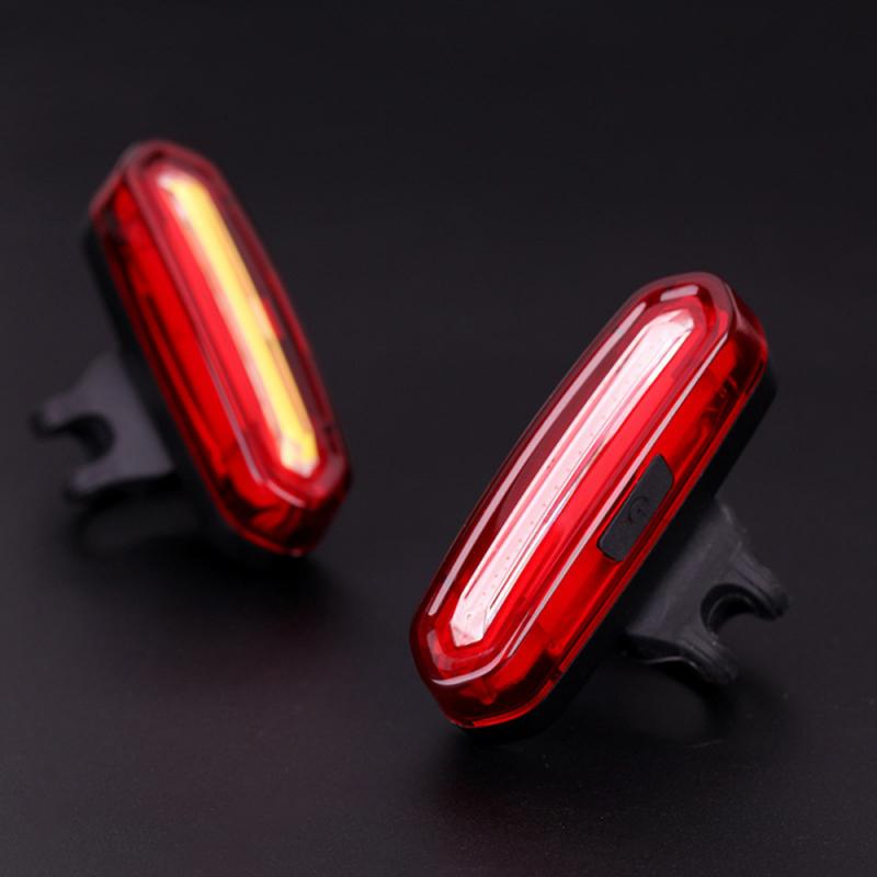 Bicycle Light Bike Rear Taillight Night Safety Warning Light LED USB Rechargeable Waterproof Cycling Bike Light Tail-lamp TSML1