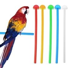 Bird Cage Perch Stand Holder Plastic Bird Finch Canary Budgie Cage Platform
