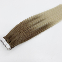 Kayla Balayage Tape in Human Hair Extensions rooted blonde 100% Machine Remy Invisible Tape Human Hair