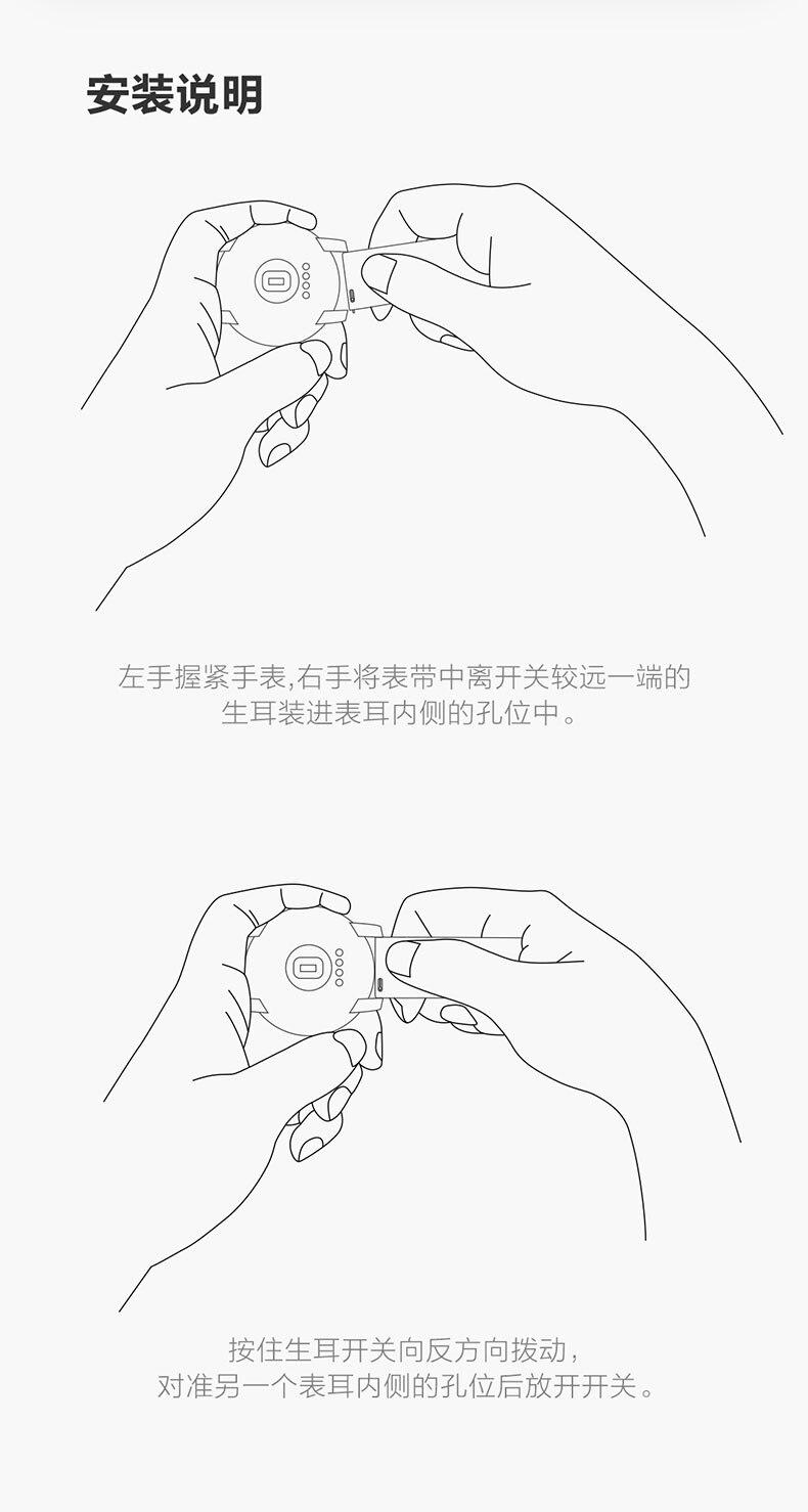 Pulseira de relógio original borracha fluoric (fpm)