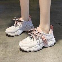 Hot Sale Women Comfortable Sneaker Shoes White Sneakers Platform Wedge Shoes For Women Zapatos De Mujer Casual Shoes D0053 8 cm heels white women platform sneakers casual wedges shoes for women white shoes woman plataforma sneaker zapatos de mujer