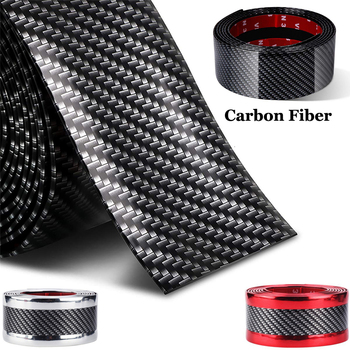 Car Door Edges Guard Protector Stickers Black Carbon Fiber Anti Scratch Sill Plate Protective Film Trim Bumper Strip Car Styling 2 5 meter rubber moulding strip anti scratch strip for car door pedal trim bumper diy door sill protector edge guard car styling