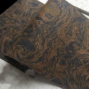 Image 1 - Technical Wood Veneer Black Walnut Burl Root Engineering Veneer E.V. 62x250cm Tissue Backing
