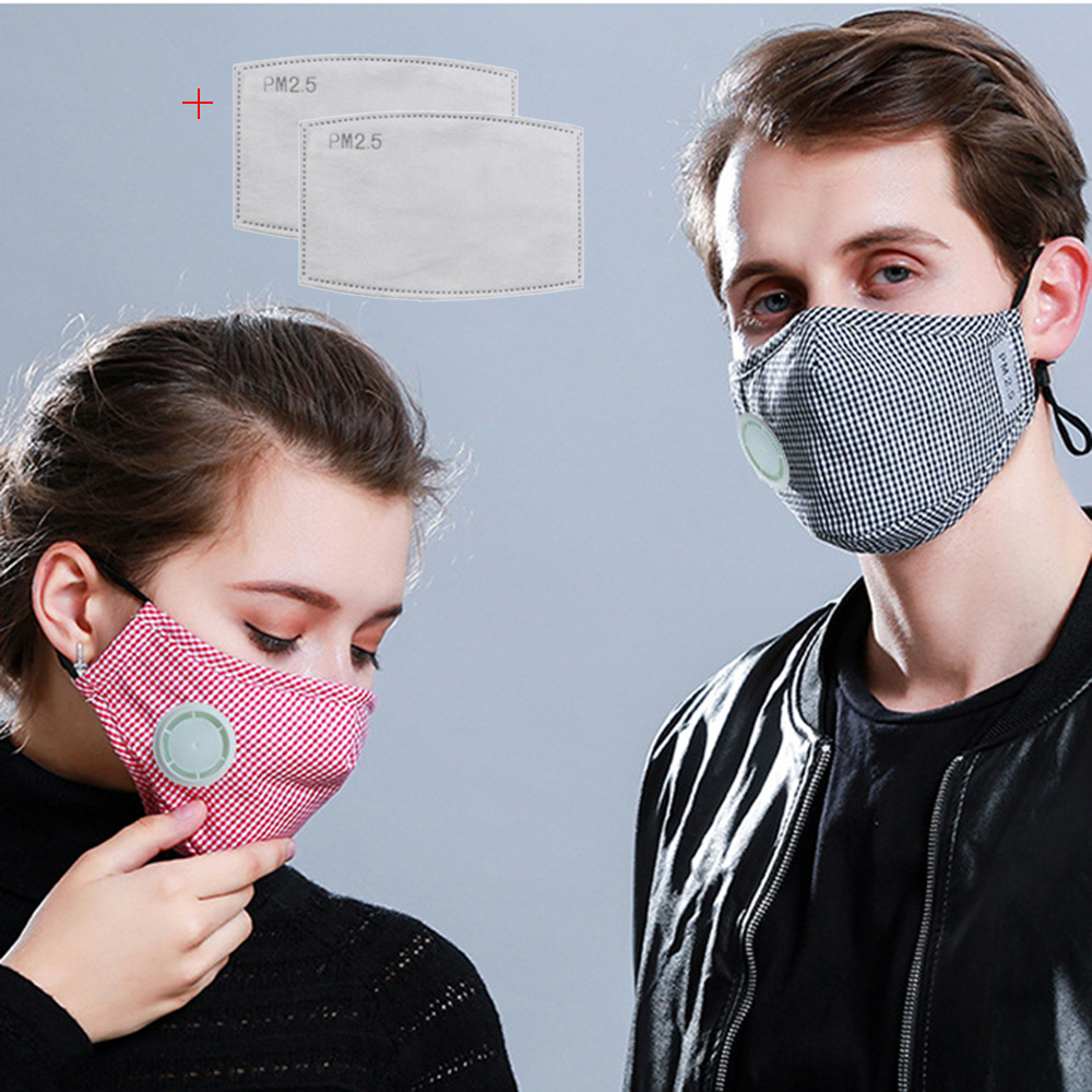 Cotton Anti Pollution PM2.5 Mouth Mask Dust Respirator Washable Reusable Masks Unisex Mouth Masks For Allergy Asthma Travel