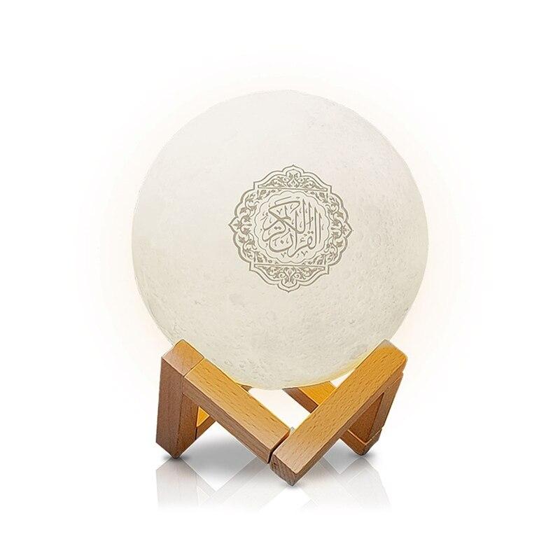 Динамик Quran с Bluetooth, лампа в форме Луны с поддержкой полки, управление через приложение, светильник с переходом Корана