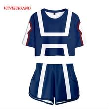 VEVEFHUANG My Hero Academia Boku no Hero Academia Asui Tsuyu Cosplay kostiumy OCHACO URARAKA chłopiec dziewczyna lato mundurek szkolny