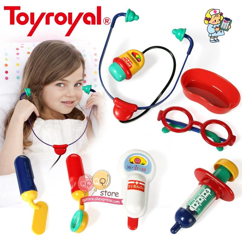 ToyRoyal Kids Hospital Dentist Doctor Kit Classic Role Udawaj Zagraj Zestaw Stetoskop Pielęgniarka Zabawki edukacyjne dla dzieci Prezent