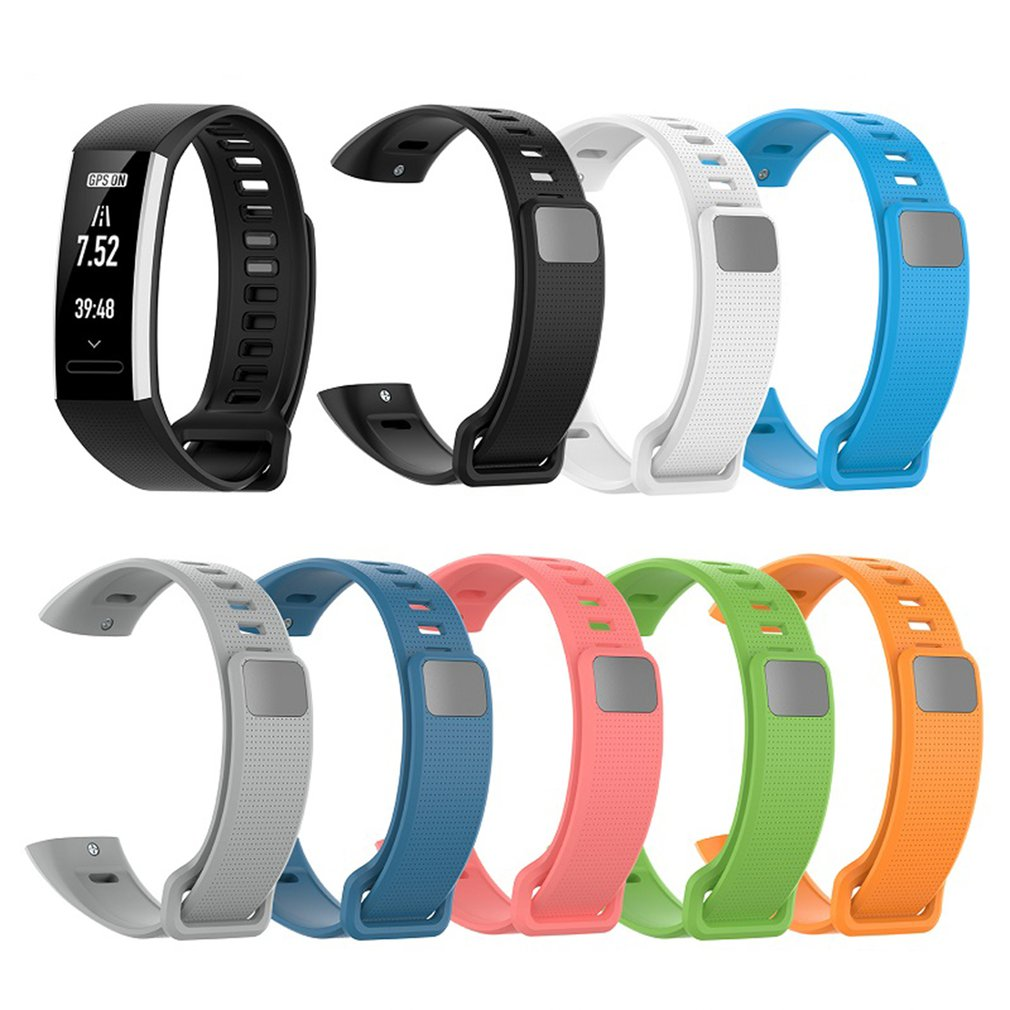Silicone Wrist Strap For Huawei Band 2 Pro B19 Bracelet Straps TPU Wristband For Honor Band2/Band2 Pro Watch Bands Dropshipping