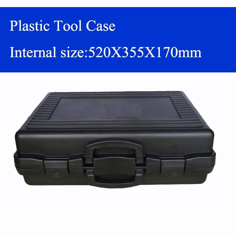 Plastikinis Įrankių dėklas, lagaminas, įrankių dėžė, smūgiams atspari apsauginio dėklo įranga, instrumentų dėžutė su iš anksto supjaustytomis putomis 520X355X170mm