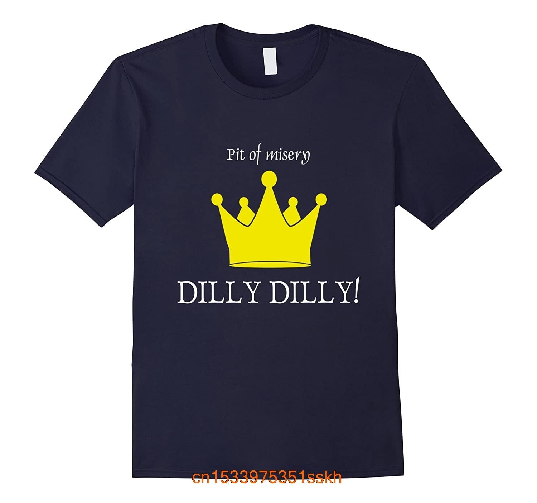 Повседневная крутая хлопковая футболка с коротким рукавом, дилли, дилли, питьюар, средневековая рубашка