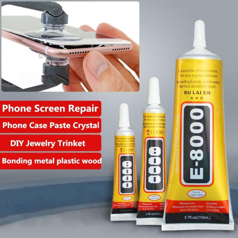 50ml Glue E8000 Phone Screen Frame Repair DIY Jewelery Clear Glue Adhesive Liquid Needle Style High Viscosity Glue