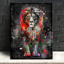 Abstract Lion Canvas Painting Colorful Animal Posters And Prints Wall Art Pictures For Living Room Modern Home Decor No Frame modern abstract oil painting posters and prints wall art canvas painting colorful rhythm pictures for living room decor no frame