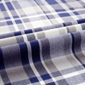Image 5 - Mannen Plaid Geruite Lange Mouwen Jurk Shirts Enkele Patch Zak Comfortabele Bamboevezel Standaard Fit Casual Boerenbont Shirt