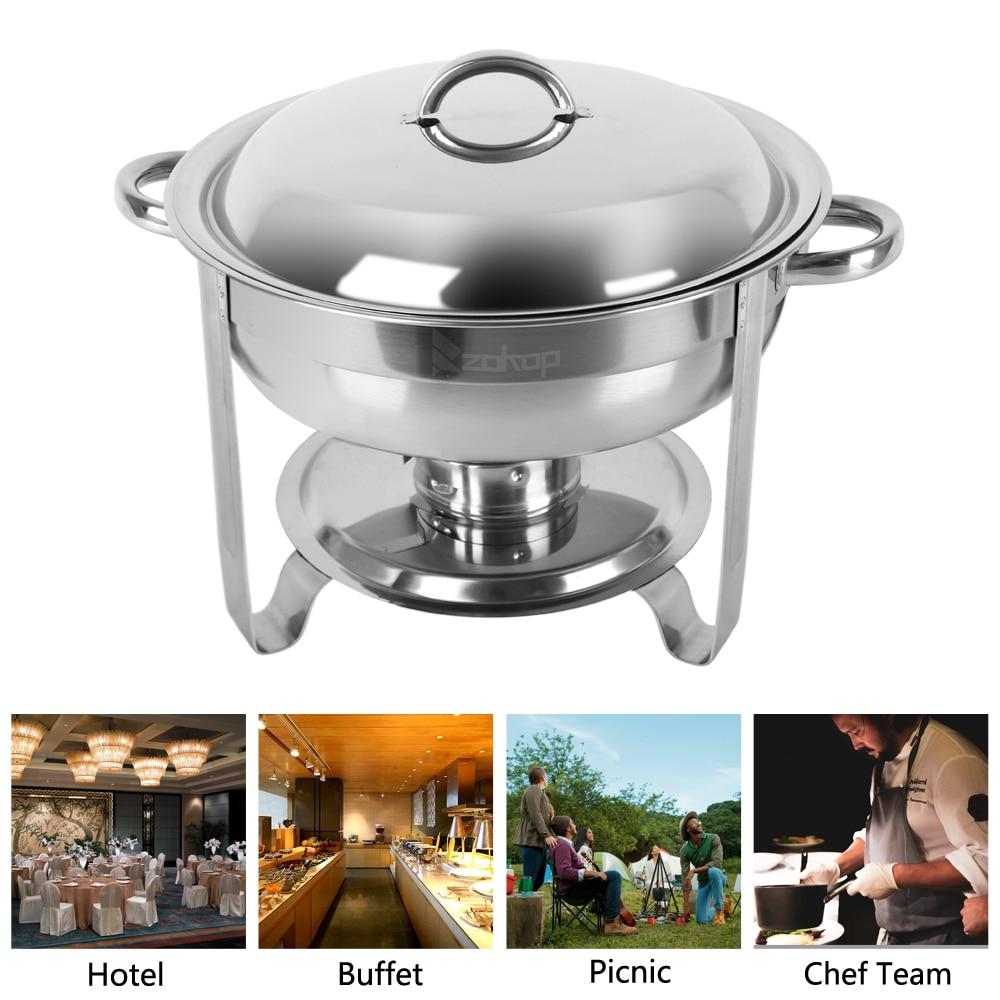 5L 4 Pack Rvs Ronde Buffet Grill Keuken Self Service Omgevingen Accessoires Draagbare Huishoudelijke Benodigdheden - 3
