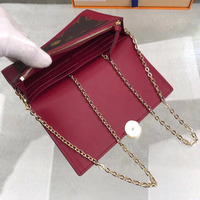 Luxury Design Wallet Women Purses Handbag Leather Long Wallet Hasp Handbag Shoulder Bag Box Lady