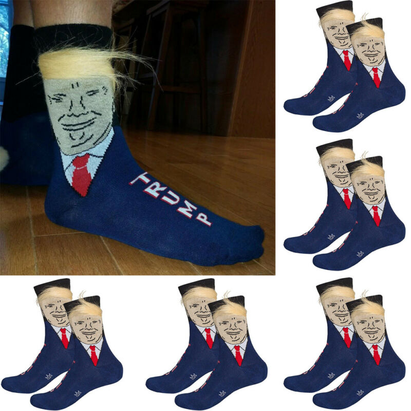NEW Fashion 3D Famous Painting Art Socks Characters Printed With Fake Hair Funny Novelty For Men Women Cool Crew