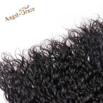 Water Wave Bundles With Closure Brazilian Hair Weave Bundles With Closure Angel Grace Remy Human Hair 3 Bundles With Closure