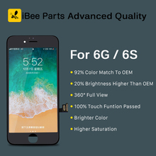 IBee ชิ้นส่วน 10PCS ใหม่รุ่นขั้นสูงสำหรับ iPhone 6 6G 6S จอแสดงผล LCD Touch Screen เปลี่ยนเลนส์ pantalla