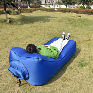 Image 3 - Fast Inflatable Air Sofa Bed Sleeping Chair Inflatable Couch Lazy Relaxing Beach Sofa Lay Bag 2019 Trend Outdoor Furniture