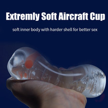 TPE Transparent Aircraft Cup Male Masturbation Sex Toys for Men Vagina Real Pussy for Adult Free Shipping(China)