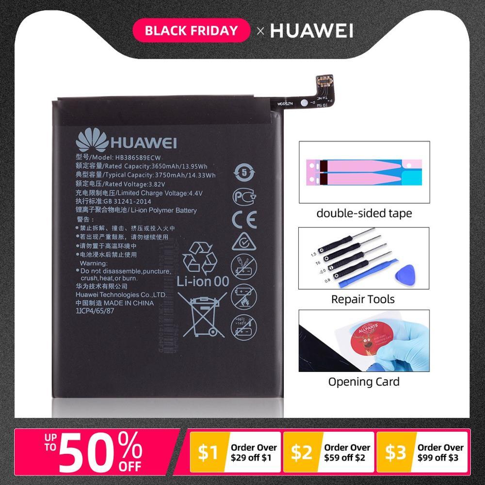 Nouvelle batterie d'origine pour HUAWEI Honor 8X batterie Mate 20 Lite HB386589ECW 3650mAh remplacement pleine capacité