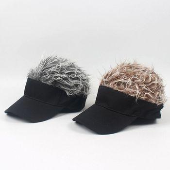 Gorra de béisbol para niños y adultos, con Peluca de pelo falso con pinchos, Color sólido, ajustable, visera, sombrero, ropa informal estilo Hip Hop, regalo