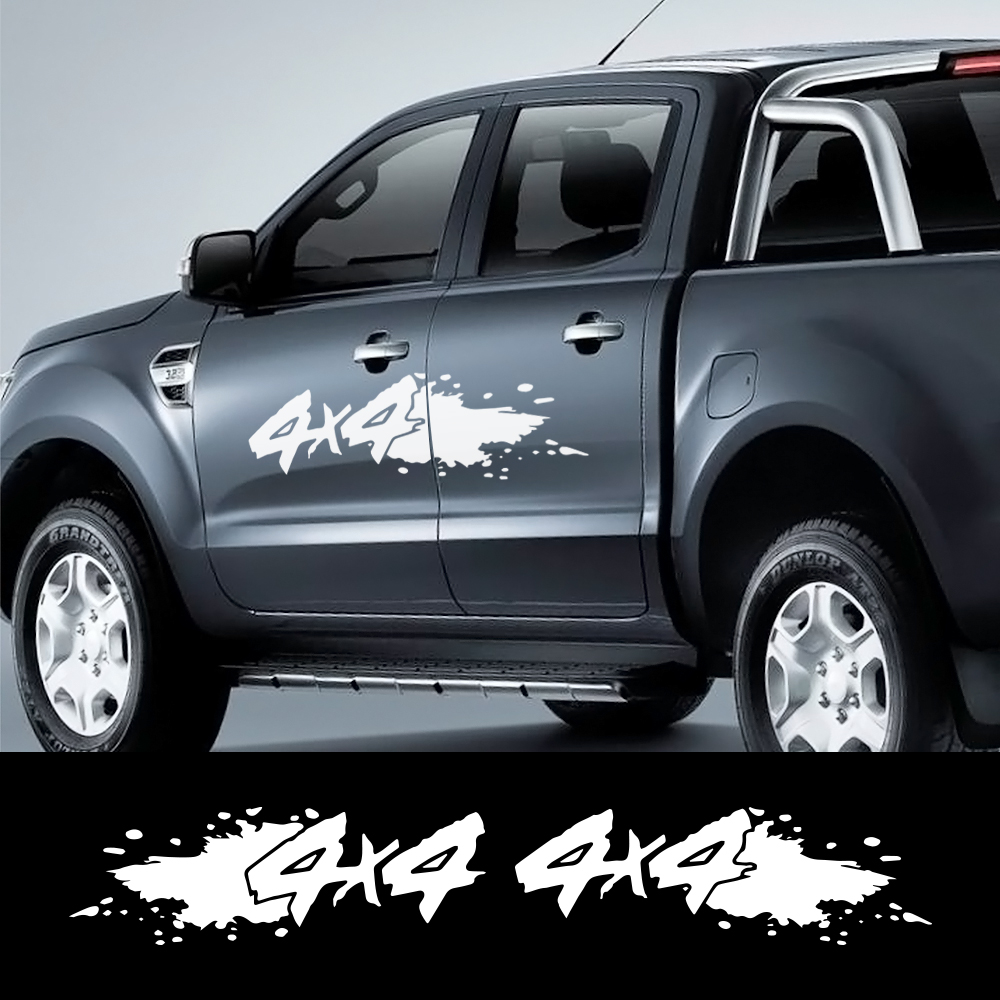 Car Decor <font><b>Sticker</b></font> <font><b>4x4</b></font> <font><b>OFF</b></font> <font><b>ROAD</b></font> Pickup Trunk for Toyota Hilux Ford Ranger Raptor Pickup Isuzu Dmax Nissan NAVARA Car Accessories image