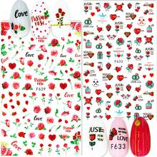 Lettering design Newest F629 633 nail sticker art 3d template nail decals decoration accessory дрель ударная stanley sdh700 ru