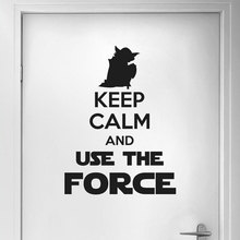 keep calm and dream on quote wall stickers vinyl home decor living room bedroom door decals removable art mural wallpaper 3b05 Keep Calm And Use The Force Star Wars Wall Sticker Vinyl Master Yoda Home Decor For Room Bedroom Door Decals Removable Art 3B03