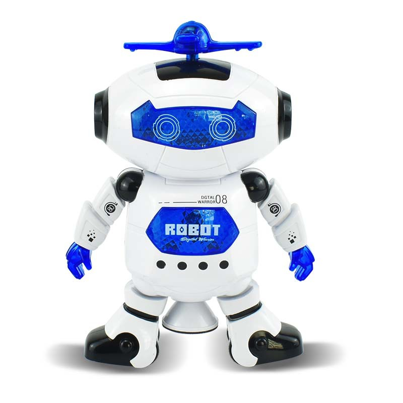 Stall Hot Selling Dancing Electric Robot 360 Rotating Dancer Robot Sound-And-Light Electric Toys