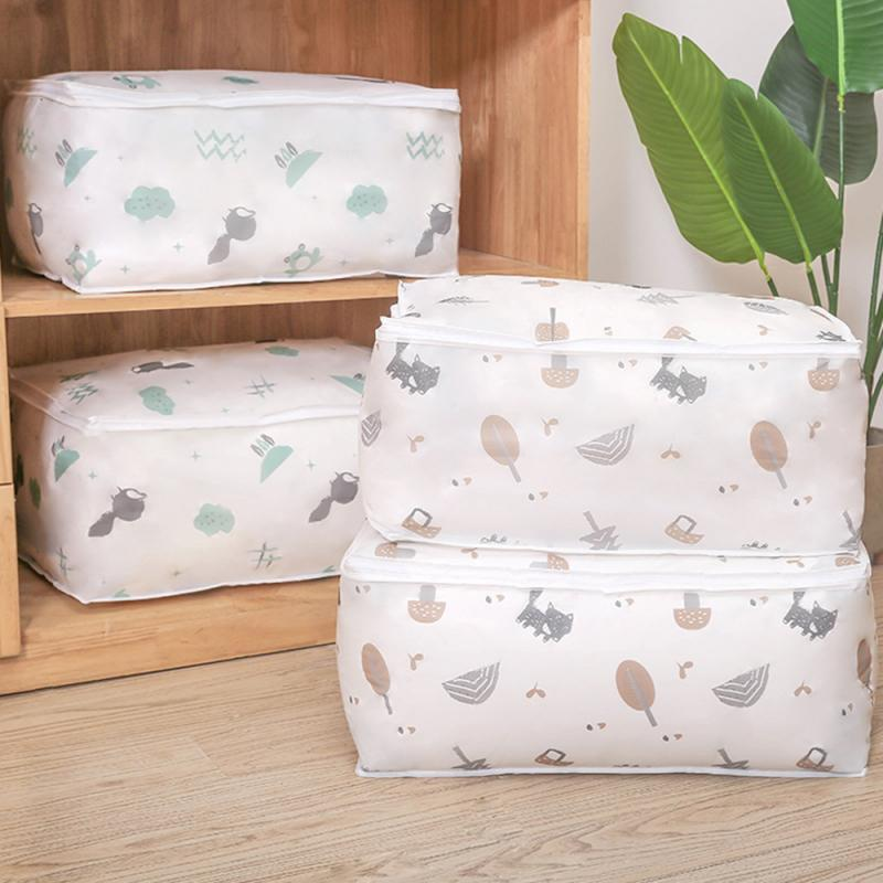 Moisture-proof Clothes Storage Bag Organizer Portable Folding Closet Organizer For Pillow Quilt Blanket Quilt Bag Organizer