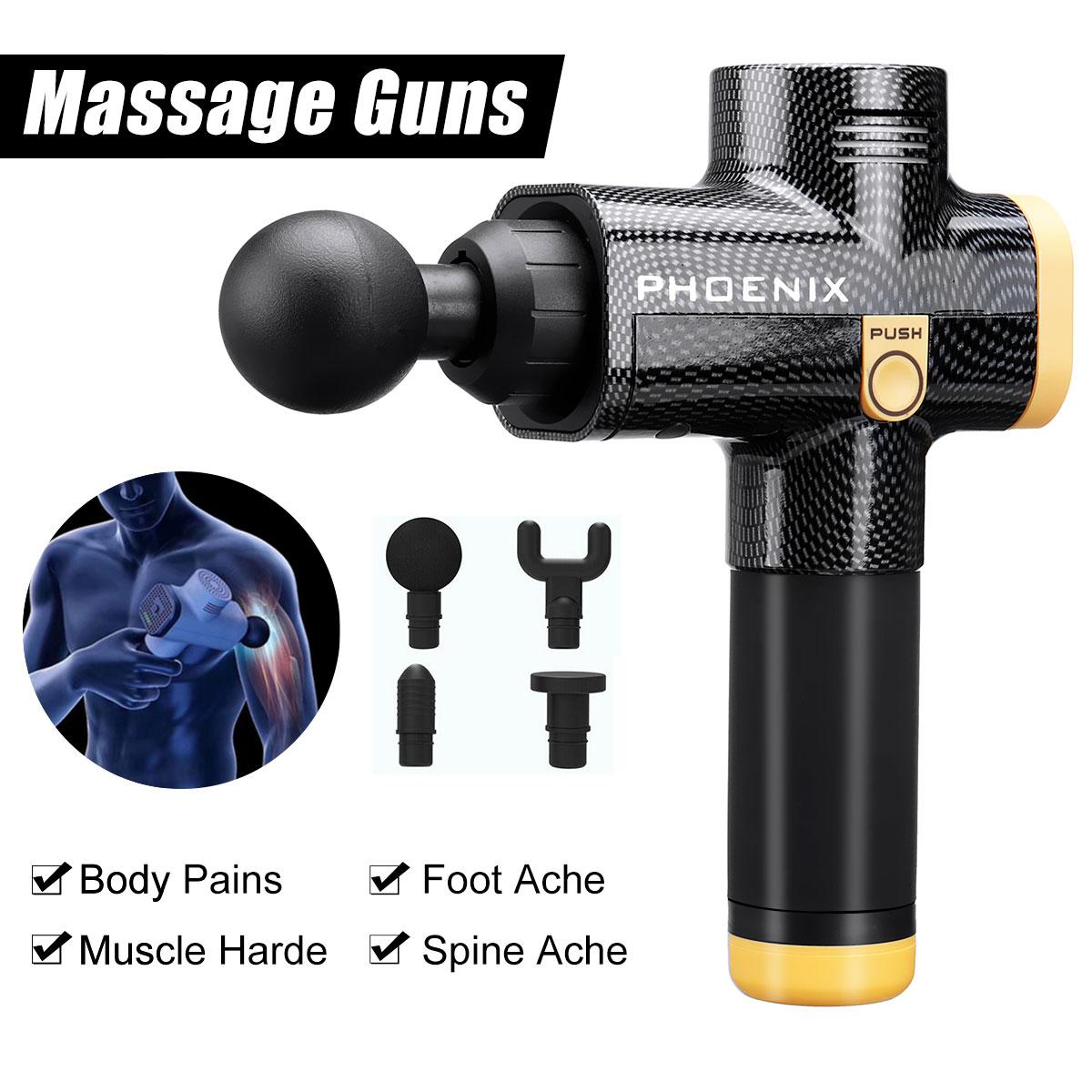 3 Files Electronic Therapy Body Massage Guns 220v Vibrator Motor Neck Massager Foot Massage Machine Pressure Therapy Apparatus