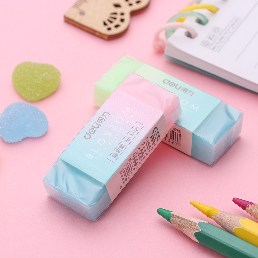 Soft Durable Eraser Flexible Cube Colored Pencil Rubber Erasers Office Supplies