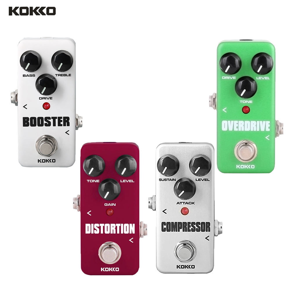KOKKO Guitar Effect Pedals Compressor Overdrive Booster Distortion Effect Pedal Tuner Power Adapter Cable Chorus Looper Pedal image