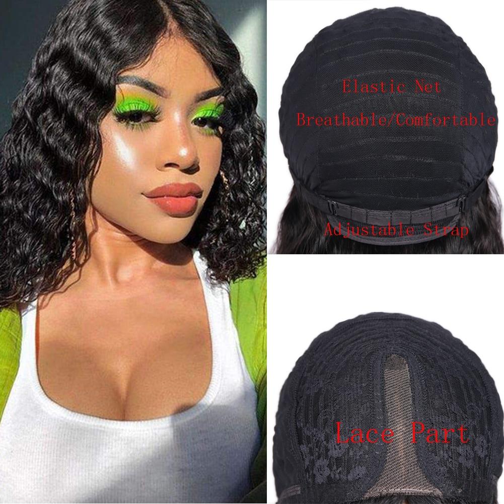 Wignee Deep Wave Short Pixie Cut Human Hair Wig For Black/White Women Brazilian Remy Hair 150% High Density Swiss Lace Human Wig